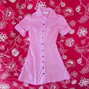 Roberta Oaks Pink Houndstooth Dress